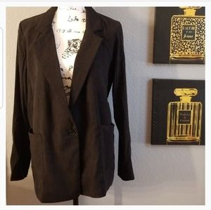 FAVLUX Jackets & Coats - Black long blazer size medium